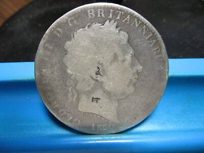 1820 - British - Silver Crown - Counter Stamped (IT)            ( Lot-62)