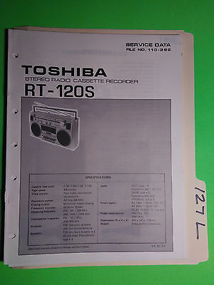 Toshiba rt-120s service manual original repair book stereo boombox fm radio