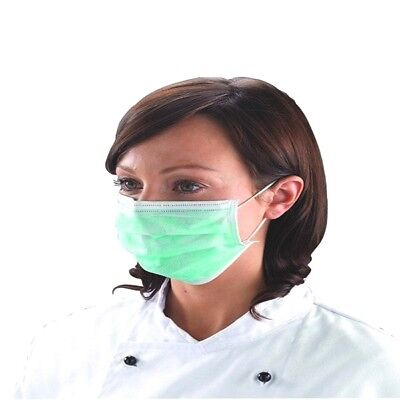 Disposable 3 Ply Surgical Dental Nail Salon Dust Medical Face/Mouth Mask pk 50