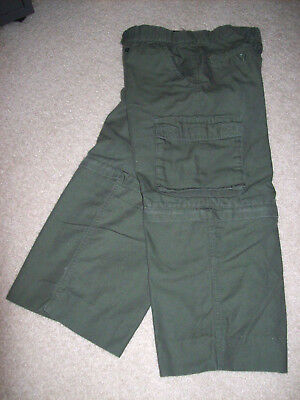 Boy Scout BSA Official Centennial Canvas convertible pants Youth Large 14