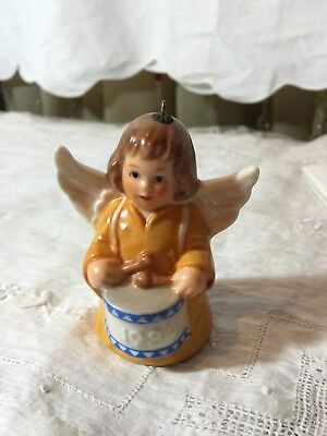 Goebel Annual Angel Bell Ornament 1984 Drum West Germany Vintage