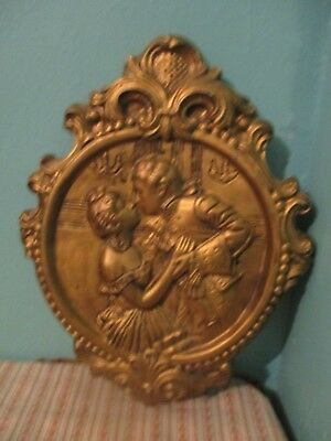 Vintage  Victorian man & Woman wall plaque antique style
