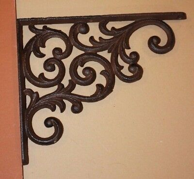 Elegant Victorian Scroll Design Cast Iron Corbels, 9 1/4 inch, Lot of 12, B-23