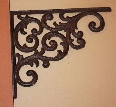 "Large Victorian Design Cast Iron Corbels, Shelf Brackets - 9 1/4"", Lot of 8,B-23"