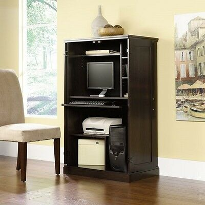 Office Computer Desk Table Cabinet Workstation Study Home Furniture Wood Armoire
