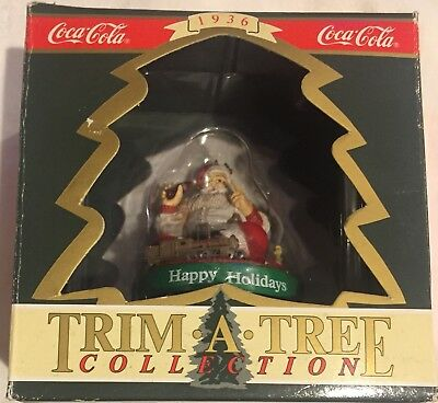 "Coca Cola Christmas 1990 Trim A Tree Collection Ornament ""Happy Holidays"""