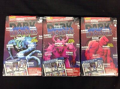 LOT of 3 Sealed Boxes DARK DOMINION Trading Cards