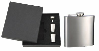 6oz Personalized Hip Flask with Gift Box, Funnel and 2 Stainless Steel Shot Cups