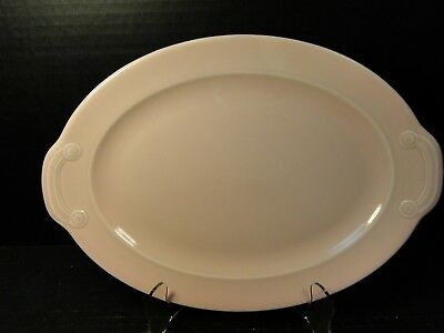 """Taylor Smith Taylor Luray Pastels Pink Oval Platter 11 3/4"""""""