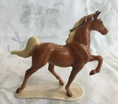 Hagen Renaker Special Run Saddlebred Horse Chestnut Magic with Silver Ribbons