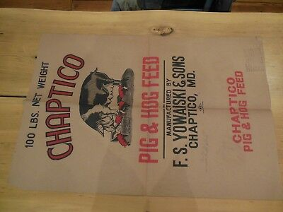 Printer's proof, Vintage 1958 CHAPTICO PIG AND HOG FEED  /  35 1/2 X 24 inches