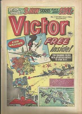 Victor Issues 1183 &1184 With Free Gift 1983 - Modern Age Good Condition