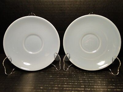 """TWO Taylor Smith Taylor Luray Pastels Blue Saucers 6"""" Set of 2 EXCELLENT"""