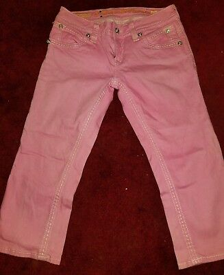 ** RARE Impossible to find- HOT PINK-  Rock Revival Capri Denim Jeans Size 29 **