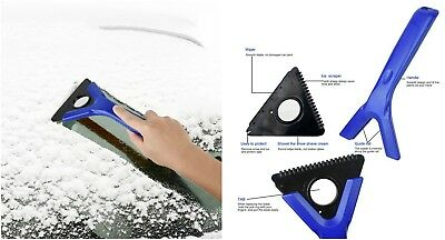3-IN-1 Ice Snow Scraper Car Frost Clean Window Removal Brush Windshield  Blade