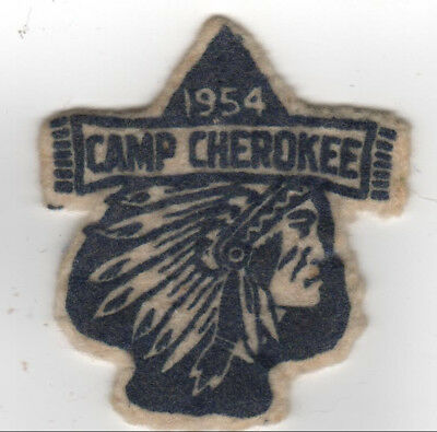 Camp Cherokee 1954 Felt Silkscreen Patch Old North State NC oa lodge 163 Tslagi