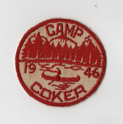 1946 Dated Camp Coker Pee Dee Area Council Linen Variety (glue on back) OA 116