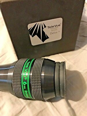 "Tele Vue 1.25"" Delos Eyepiece - 6mm GREAT CONDition w/ box"