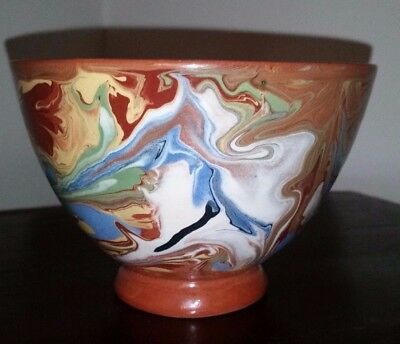 Vintage Italian ART Pottery Bowl Handcrafted SIGNED - VERY UNIQUE