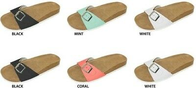 Wholesale Lot New 36  Pairs Ladies Footbed Sandal with Side Buckle
