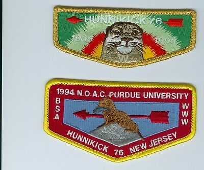 OA   Lodge 76 Hunnikick 60th anniversary & 1994 NOAC flaps