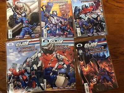 Transformers versus G.I. Joe from Image Comics Complete 6 issue mini series