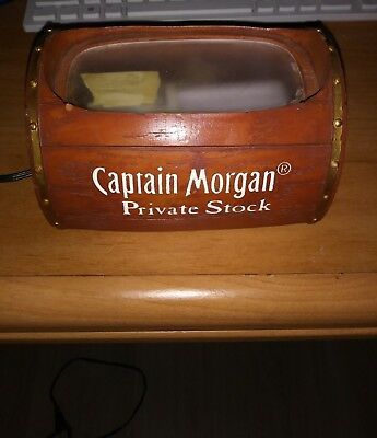 captain morgan private stock bottle display light up stand