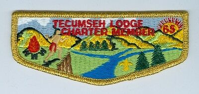 OA  Lodge 65 Tecumseh S1  Charter Member first flap
