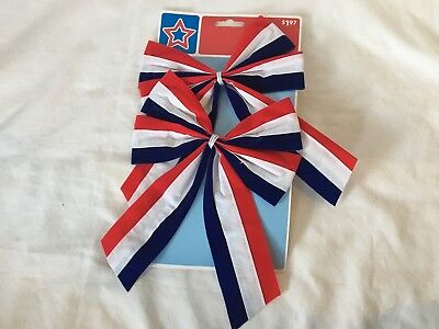 American Patriotic 4th of July Outdoor Bow Memorial Veterans Day USA Lot of  5 910cc0701
