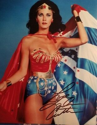 Lynda Carter - Wonder Woman  - Hand Signed 8x10 Photo - Not A Reprint