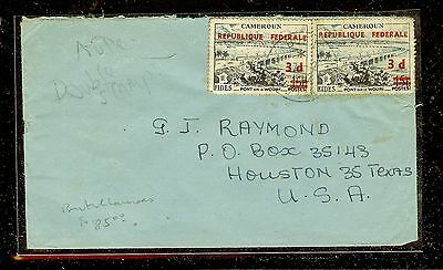 Camroons (P1304B) British 3Dx2 Ovt On French Issues Rare On Cover