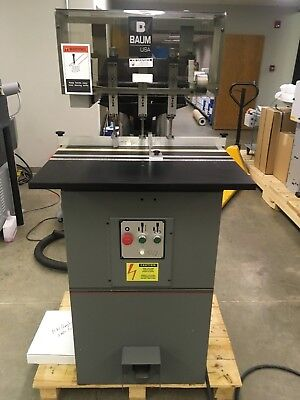 USED Baum ND-5A-S-3 Paper Drill 3-hole With Manuals and Accessories