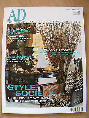 AD Architectural Digest September 2005   Style Society  Norman Foster  Drehturm