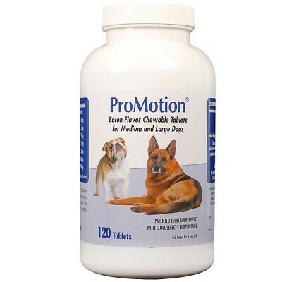 ProMotion Pet Chewable Tablets for Healthy Joints Medium To Large Dogs 120 Tabs