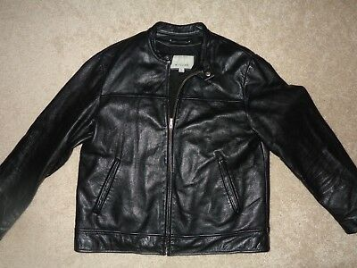 Vintage Mens Size Large Wilson Leather M. Julian Black Leather Jacket