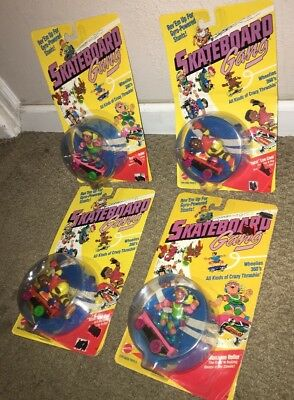 Lot Of 4 Vintage 1986 Mattel Skateboard Gang Figures sealed Model 3384 & 3385