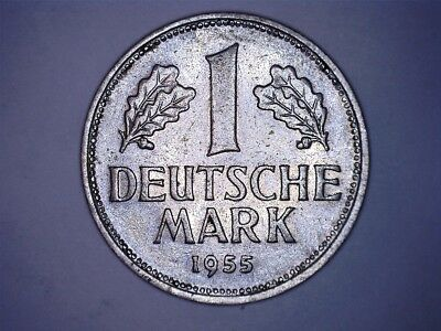 1955 D 1 deutsche mark Germany Federal Republic KM#110