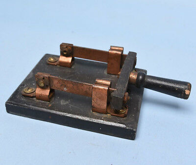 Antique Double Pole Knife Switch - vintage electrical, steampunk