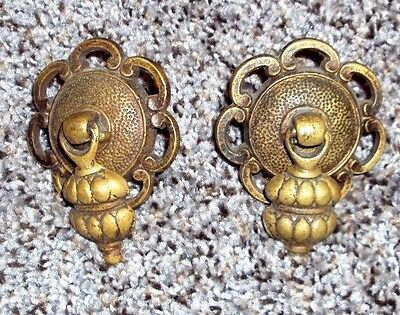 Pair of Solid Brass Drawer Pulls