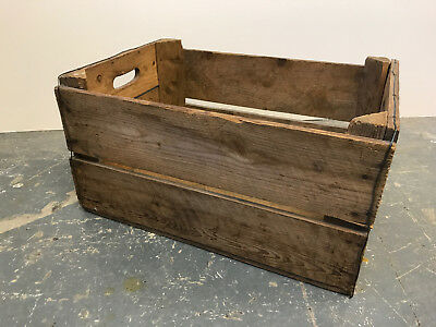 Rustic Hand Made Solid Pine Apple Crate / Toy Box / Storage