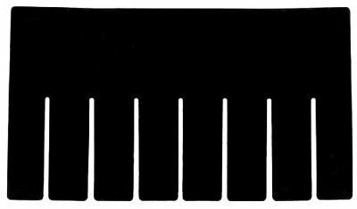 Akro Mils 41164 Short Divider for 33164 Grid Slotted Plastic Tote Box Pack of 6