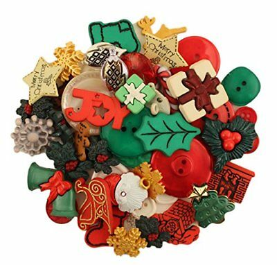 NEW Buttons Galore 50 Value Pack Christmas Button FREE SHIPPING