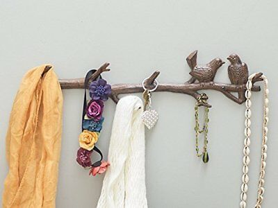 Cast Iron Birds On Branch Hanger 6 Hooks  Wall Mounted ic Decorative Gift By