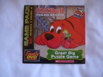 Clifford The Big Red Dog Great Big Puzzle Game Scholastic DVD Game New Sealed
