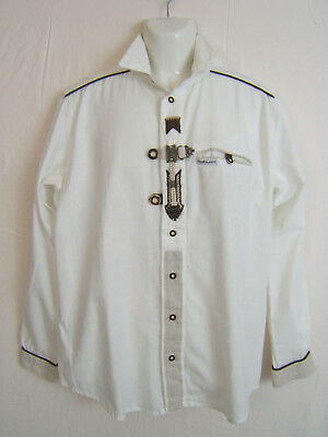 Stockerpoint German Austrian Traditional Long Sleeve Shirt Pfoad  EU 17 M-L ?