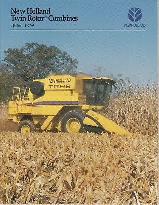 New Holland Tr 89 & Tr 99 Combines Sales Catalog