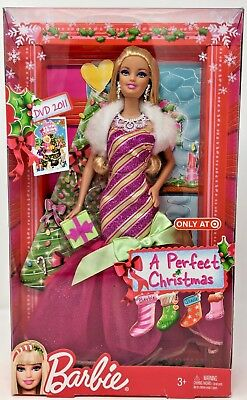 """""""A PERFECT CHRISTMAS"""" Barbie Doll TARGET EXCLUSIVE #V6985 (2011) - NRFB"""