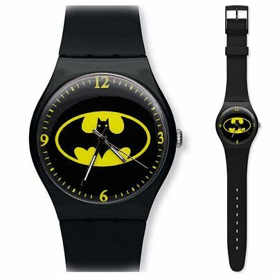 CHILDREN'S WATCH Black Batman Superhero Silicon Banded Wrist Watch