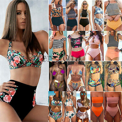 Womens High Waist Bikini Set Push Up Swimsuit Bathing Suit Swimwear Beach Wear
