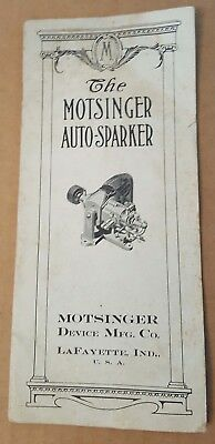 Antique Hit Miss Motsinger Autosparker Brochure Catalog